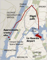 Crisis Management Spotlight US Airways Hudson River Landing - Hudson river us map