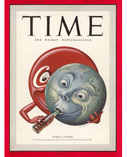 Coca-Cola Cover of Time, May 15, 1950 (wwz.time.com)