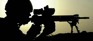Silouhette of sniper.Stavridis