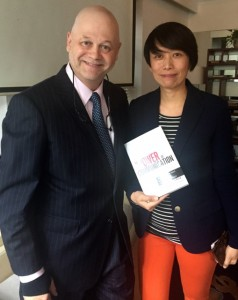 With Joyce Wu, Editor-in-Chief of Shanghai Daily, the English language newspaper of Shanghai
