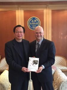 With Dr. Zhen Fan, Dean of the School of Business, Shanghai International Studies University