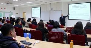 Teaching MBA students at Shanghai International Studies University