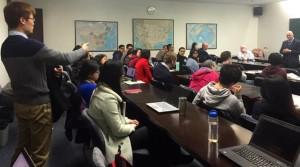 Student interaction at Johns Hopkins University Nanjing Center