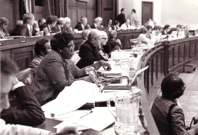 Rep. Barbara Jordan and the House Judiciary Committee, Summer, 1974