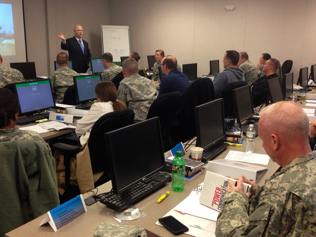 Teaching in the Joint Senior Public Affairs Officer Course at US Defense Information School at Fort Meade