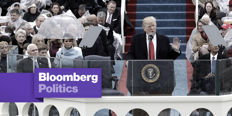 Trump's Inauguration Speech by the Numbers: Logos with Bloomberg Politics