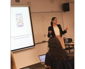 Holly Helstrom guest lecturing at NyU